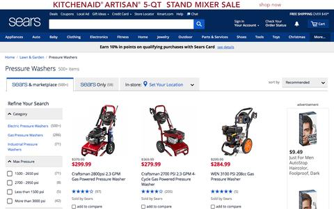 Pressure Washers | Power Washers - Sears