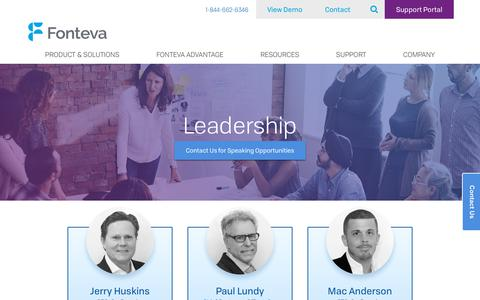Screenshot of Team Page fonteva.com - Fonteva Leadership - captured May 12, 2018