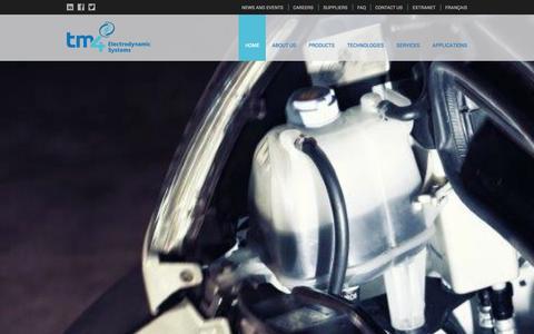 Screenshot of Home Page tm4.com - Home -TM4 - captured Sept. 30, 2014