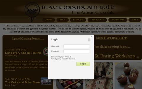 Screenshot of Home Page Terms Page blackmountaingold.org - Freshly made chocolates delivered to you door! - captured Oct. 5, 2014