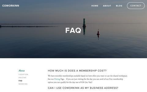 Screenshot of FAQ Page coworkinn.com - FAQ Ń Coworkinn - captured Nov. 18, 2015