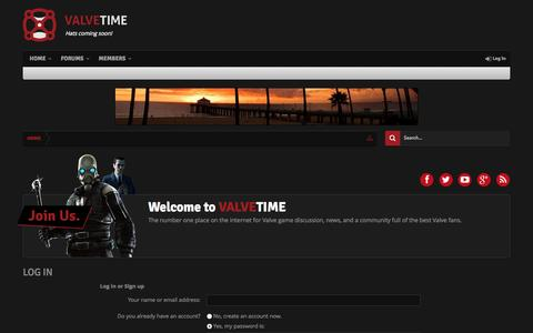 Screenshot of Login Page valvetime.net - Log in | ValveTime.net | Valve News, Forums, Steam - captured Sept. 19, 2014