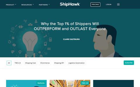 Screenshot of Blog shiphawk.com - ShipHawk Blog | Smart Shipping - captured July 8, 2019