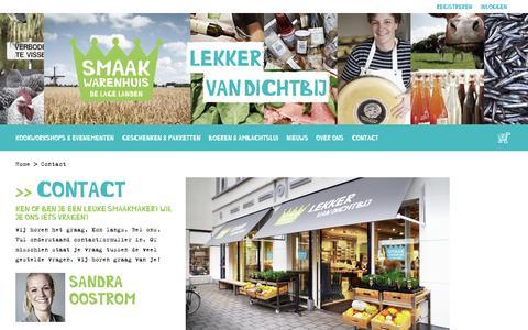 Screenshot of Contact Page smaakwarenhuis.nl - Contact - captured Nov. 30, 2016