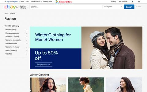 Screenshot of ebay.in - Shop with eBay India today for wide range of clothing, shoes, accessories, fragrance and personal care products at discounted prices.Find best deals on winter and wedding collection for men & women - captured Dec. 8, 2016
