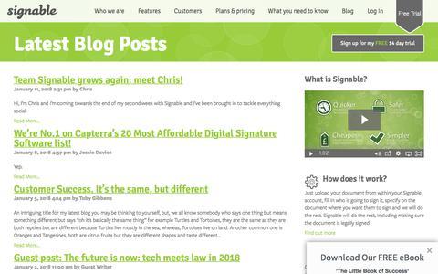 Signable Blog | Latest Posts | Electronic Signature Blog