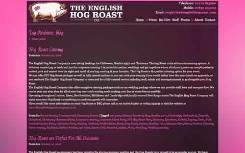 Screenshot of Blog theenglishhogroastcompany.co.uk - blog | English Hog Roast Company - captured Nov. 7, 2018