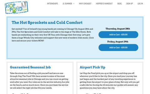 Screenshot of Products Page hopthepond.com - Hop The Pond - captured Sept. 30, 2014