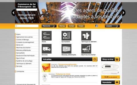 Screenshot of Home Page cdff.ch - Commerce de fer, Fribourg : Commerce de fer fribourgeois SA - captured Oct. 2, 2014