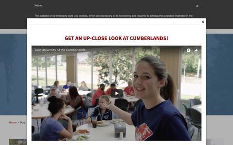 Screenshot of Maps & Directions Page ucumberlands.edu - Campus Maps | University of the Cumberlands - captured Nov. 12, 2018