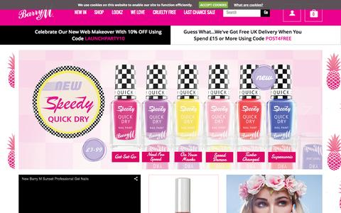 Screenshot of Home Page barrym.com - Barry M - Home - captured June 18, 2015