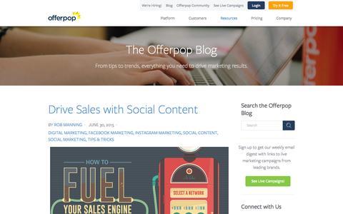 Screenshot of Blog offerpop.com - Engagement Marketing Blog | Offerpop - captured July 3, 2015