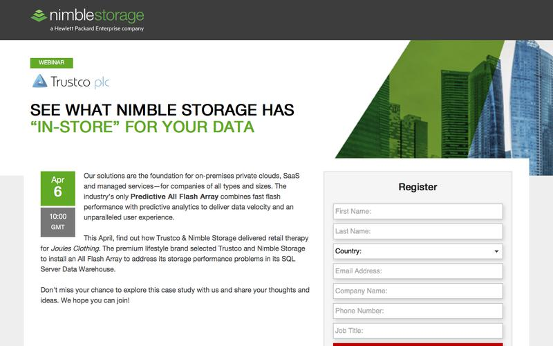"See what Nimble Storage has ""in-store"" for your data"