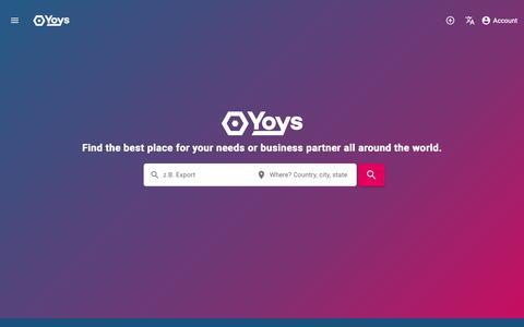 Screenshot of Home Page yoys.de - YOYS Deutschland ros - captured Nov. 12, 2018