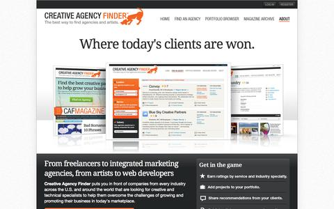 Screenshot of Signup Page creativeagencyfinder.com - The best way to find agencies and artists | Creative Agency Finder - captured Sept. 26, 2014