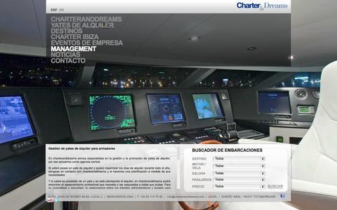 Screenshot of Team Page charteranddreams.com - Alquiler barcos Barcelona | Alquiler yates Barcelona - captured Oct. 2, 2014