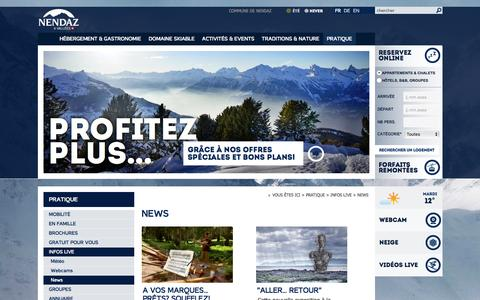 Screenshot of Press Page nendaz.ch - News :: Nendaz :: Tourisme :: Valais :: Suisse - captured March 28, 2017