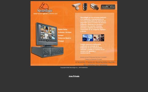 Screenshot of Home Page securilogic.com - Securilogic S.S.L - captured Sept. 29, 2014