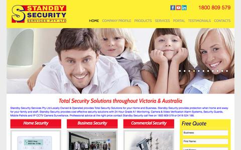 Screenshot of Home Page securityservices.net.au - home and commercial security - Security Services - captured Sept. 30, 2016