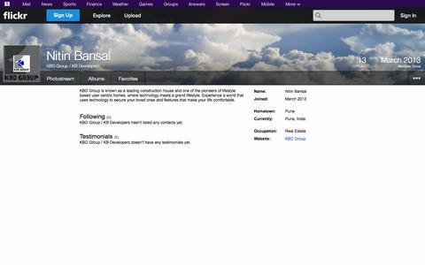 Screenshot of Flickr Page flickr.com - Flickr: KBD Group / KB Developers - captured Oct. 23, 2014