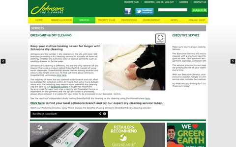 Screenshot of Services Page johnsoncleaners.com - Services | Johnson Cleaners - captured Sept. 19, 2014