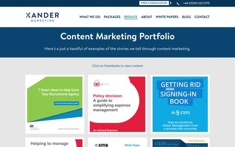 Content Marketing Archives - Xander Marketing