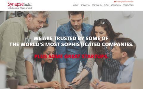 Screenshot of Home Page synapseindia.com - Software Development India | Web Development India | Custom Software Development Company - captured Jan. 17, 2016