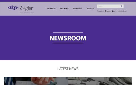 Screenshot of Press Page ziegler.com - Newsroom | Ziegler - captured July 4, 2016