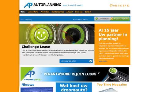 Screenshot of Home Page autoplanning.nl - Autoplanning - Algemene Lease Maatschappij Autoplanning - Auto lease aanbod met scherpe prijzen. Financial lease private lease ook occasion lease - captured Oct. 4, 2014