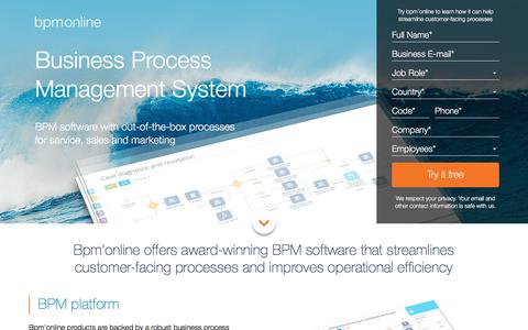Business Process Management (BPM) Software - bpm'online