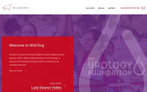Screenshot of Home Page wilddogdesign.co.uk - Award winning digital design agency in Brighton - Wild Dog - captured Nov. 9, 2016