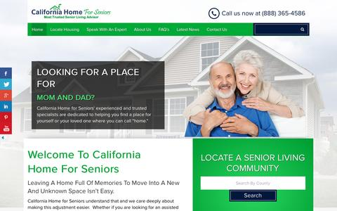 Screenshot of Home Page californiahomeforseniors.com - Assisted Living and Dementia Care services in Los Angeles - captured May 13, 2017