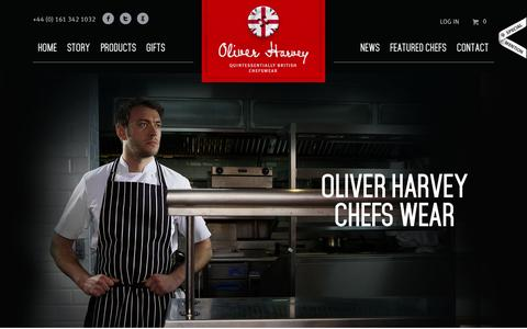 Screenshot of Products Page oliverharvey.co.uk - Chef Wear from Oliver Harvey   Designed & Manufactured in Britain - captured Oct. 26, 2014
