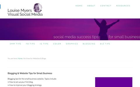Websites & Blogs Archives - Louise Myers Visual Social Media