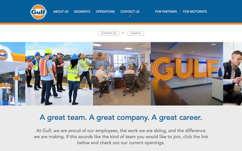 Screenshot of Jobs Page gulfoil.com - Careers | Gulf Oil - captured July 28, 2019