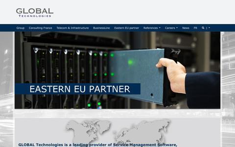 Screenshot of Home Page global.fr - GLOBAL Technologies - captured Oct. 17, 2016