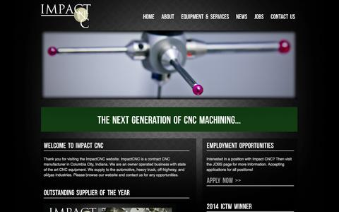Screenshot of Home Page impactcnc.net - CNC Machining Production | Production Casting Forging Machining | Impact CNC - captured Oct. 3, 2014
