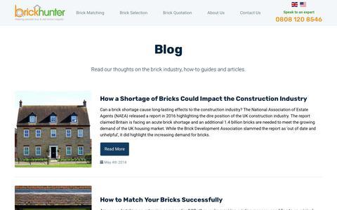 Screenshot of Blog brickhunter.com - Blog - Brickhunter - captured Sept. 23, 2018