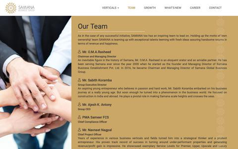 Screenshot of Team Page samanabusinessgroup.com - Team | Samana Business Group - captured Oct. 2, 2018