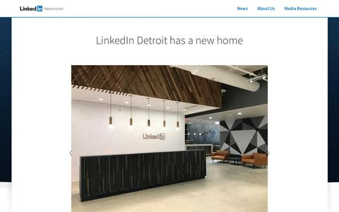 Screenshot of Press Page linkedin.com - LinkedIn Newsroom | LinkedIn - captured April 18, 2019