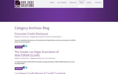 Screenshot of Blog vivixcreditsolutions.com - Blog | - captured Oct. 26, 2014