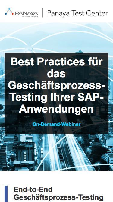 Best Practices für das Geschäftsprozess-Testing Ihrer SAP-Anwendungen