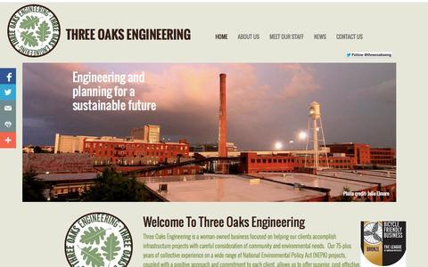 Screenshot of Home Page threeoaksengineering.com - Three Oaks Engineering - captured Oct. 9, 2014