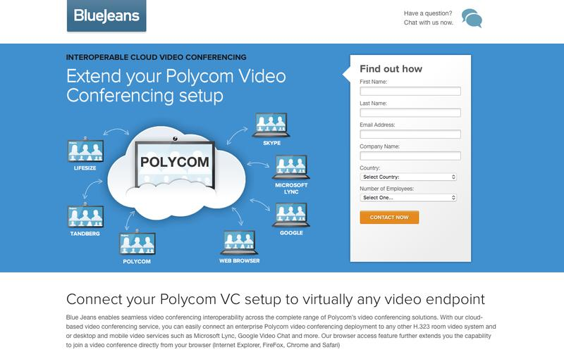 With Blue Jeans, you can now connect to Polycom from any video endpoint