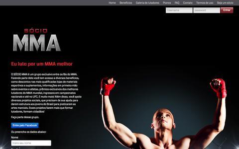 Screenshot of Home Page sociomma.com.br - MMA | MMA - captured Oct. 7, 2014