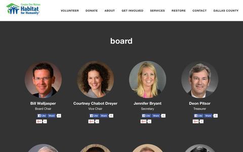 Screenshot of Team Page gdmhabitat.org - Greater Des Moines Habitat for Humanity  Leadership - captured Feb. 1, 2016