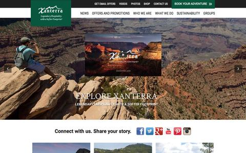 Screenshot of Home Page xanterra.com - Xanterra Parks & Resorts, Inc. | - captured Oct. 1, 2015
