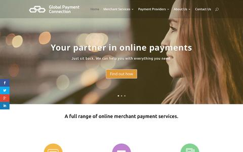 Screenshot of Home Page global-payment-connection.com - Your Partner in Online Payments - Global Payment Connection - captured July 14, 2016
