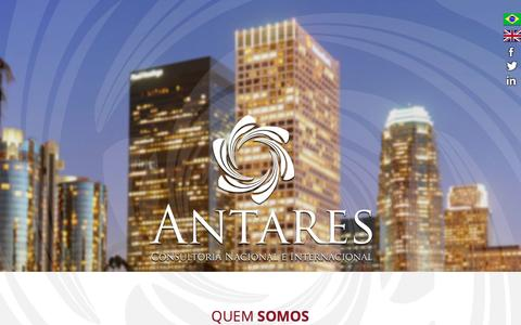 Screenshot of Home Page antarescni.com - Antares | Consultoria Nacional e Internacional - captured Nov. 19, 2016