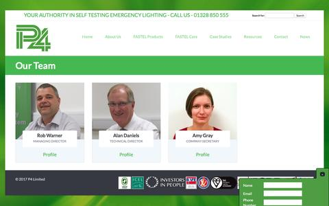 Screenshot of Team Page p4fastel.co.uk - Our Team | P4 Fastel - captured May 11, 2017